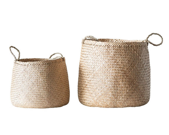 Seagrass baskets, Farmhouse storage, Fixer Upper style, JaBella Designs, Home organization