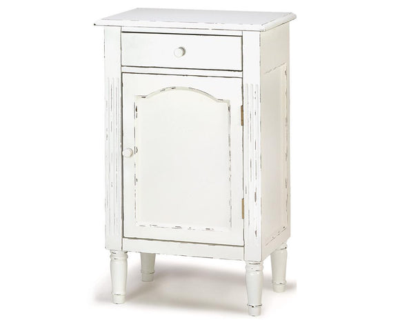 Distressed, White, Table, Cabinet, Accent Furniture, Furniture, Storage, Shabby, Chic, Farmhouse, Cottage Style, Vintage Style, Home Decor, JaBella Designs