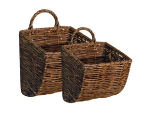 Wall baskets, Wicker, Water hyacinth, Willow, Brown, Natural, Woven baskets, Wall hanging baskets, Plastic free storage, Country farmhouse, Primitive, JaBella Designs, Home storage, Organization