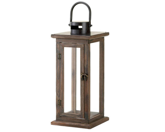 Wood lanterns, Wooden candle lantern, Brown rustic wood decor, Black farmhouse, Primitive style, Home decor, JaBella Designs, Murfreesboro