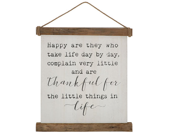 Fixer Upper style quotes, Happy are they wall hanging, Inspirational artwork, Family artwork, Brown neutral wooden wall hanging, Rustic farmhouse home decor, JaBella Designs