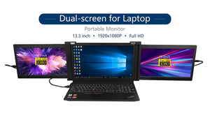 "13,3"" Portable Dual Screens Turn's your Laptop Into a Triple Screens Work Station."