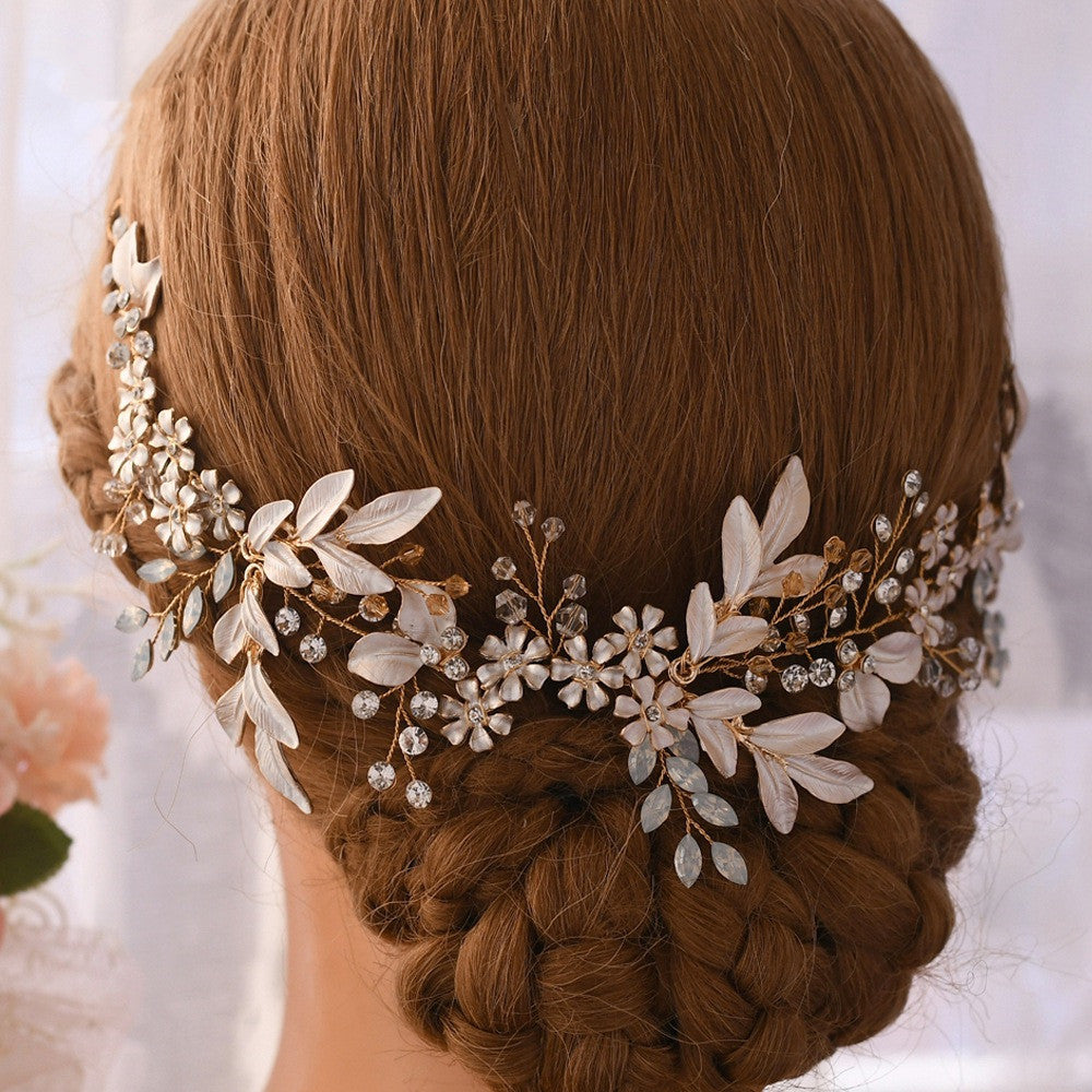 Gold Color handmade flower hair ornament