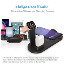 Load image into Gallery viewer, 4 in 1 Wireless Charging Dock Station For Apple Watch iPhone X XS XR MAX 11 Pro 8 Airpods 10W Qi Fast Charger Stand Holder