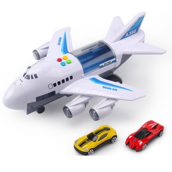 Early education sound and light track toy airliner