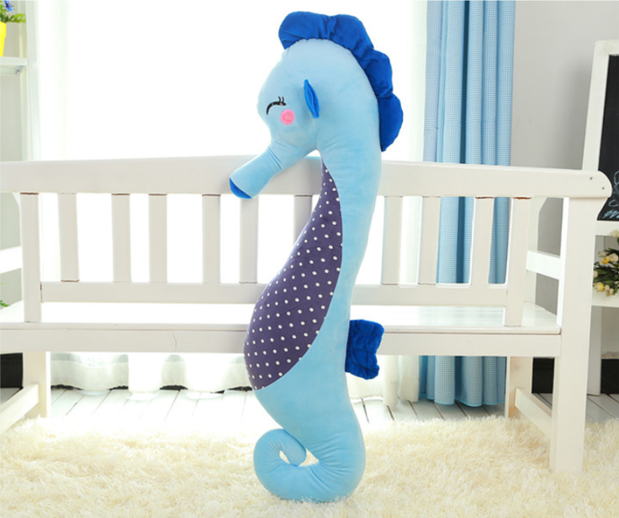 Dorimytrader creative seahorse plush pillow giant stuffed cartoon Sea horse doll toy