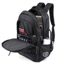 Load image into Gallery viewer, New Waterproof Black Backpack with USB and Phone Ports
