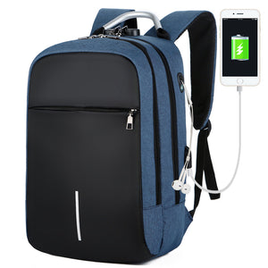 Smart and Durable Reflective Front Line Waterproof Backpack with USB and  Headphone Port, Laptop Compartment Anti-theft Lock