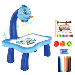 Children's projection painting table