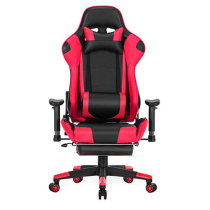 8204 High Quality  Gaming Chair  with a Massaging  Pillow and Foot Rest