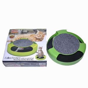 Cat  Catch The Mouse Moving Plush Toy Scratching Claw Care Mat Play