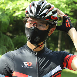 Sport Face Mask With Filter KN95 Activated Carbon PM 2.5 Anti-Pollution Running, Training  Mask