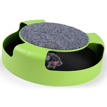 Load image into Gallery viewer, Cat  Catch The Mouse Moving Plush Toy Scratching Claw Care Mat Play