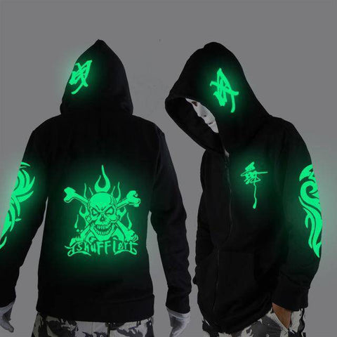 Image of Glowing in The  Niight  Ghost Dance Hoodie