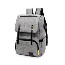 Load image into Gallery viewer, Fashionable Backpack for Diapers with USB Port,Waterproof
