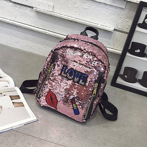Charming  Festivals Color Changing Shinning Sequined Women Backpack