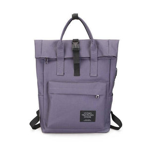 New fashion Canvas Ladies Backpack  with External USB Port