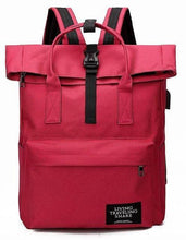 Load image into Gallery viewer, New fashion Canvas Ladies Backpack  with External USB Port