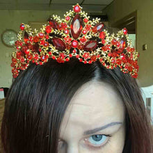 Load image into Gallery viewer, New Fashion Baroque Style Luxury Crystal AB Bridal Crown