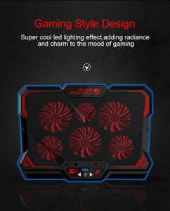 15.6 inch Gaming Laptop Cooler Six Fan Led Screen 2600RPM