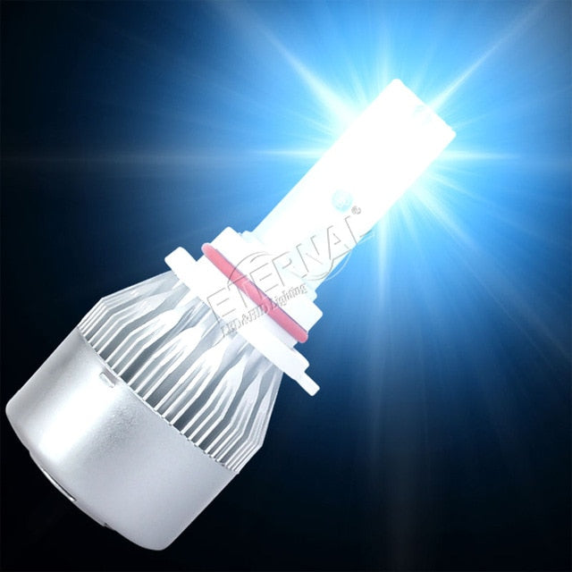 LED Headlight Bulb  Pair for Car, Motorcycle,Truck Color Temperature: 6000 K Blue Light.