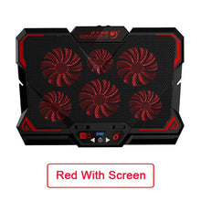 Load image into Gallery viewer, 15.6 inch Gaming Laptop Cooler Six Fan Led Screen 2600RPM