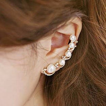 Load image into Gallery viewer, Flower Shape Rhinestone Left Ear Cuff Clip