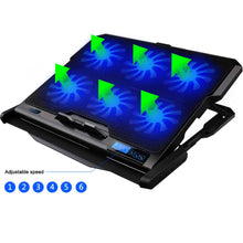 Load image into Gallery viewer, Gaming Laptop Cooler Six Fans For 12-15.6 inch Laptop