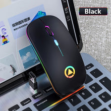Load image into Gallery viewer, Wireless Mouse Rechargeable Silent Mouse 2.4GHz USB Optical Ergonomic LED Backlight for PC Laptop
