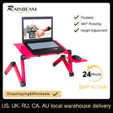 "Load image into Gallery viewer, Up to 16"" Laptop Desk with or without Cooling Fan With Mouse Pad"