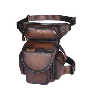 3109-c Genuine Leather  Drop Leg Bag