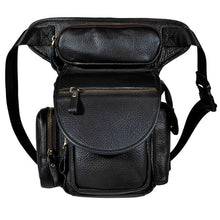 Load image into Gallery viewer, 3109-c Genuine Leather  Drop Leg Bag