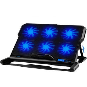 Gaming Laptop Cooler Six Fans For 12-15.6 inch Laptop