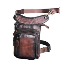 Load image into Gallery viewer, 21111d Real Leather  Drop Leg Bag ,Tablet Case