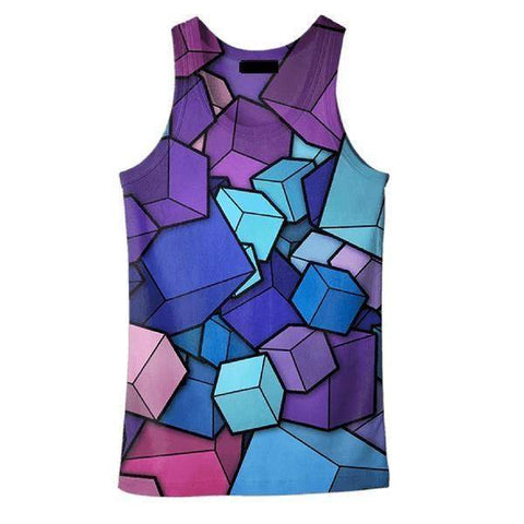 Image of 3D CUBE SUMMER TANK