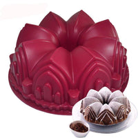 Big Crown. Castle. Silicone Cake Mold 3D .Cake Pan Decorating Tools . Large Bread Baking Pastry Tool