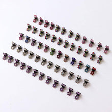 Load image into Gallery viewer, 12PCS/Lot Small Cute Crystal Flowers Metal Hair