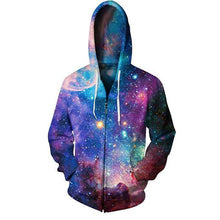 Load image into Gallery viewer, 3D Starry sky Zipped Unisex Hoodie