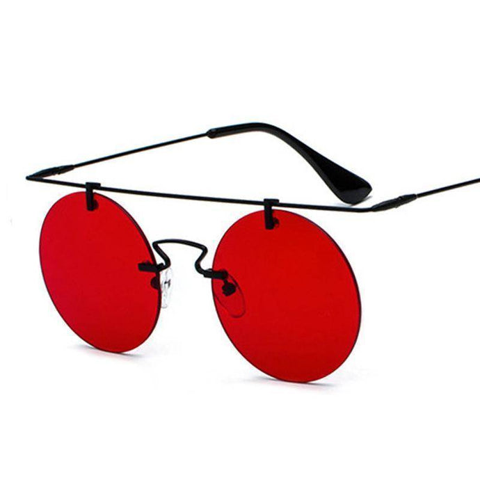 Super Light Weight  Rimless Round Sunglasses