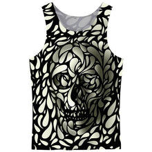 Load image into Gallery viewer, FLORAL SKULL TANK