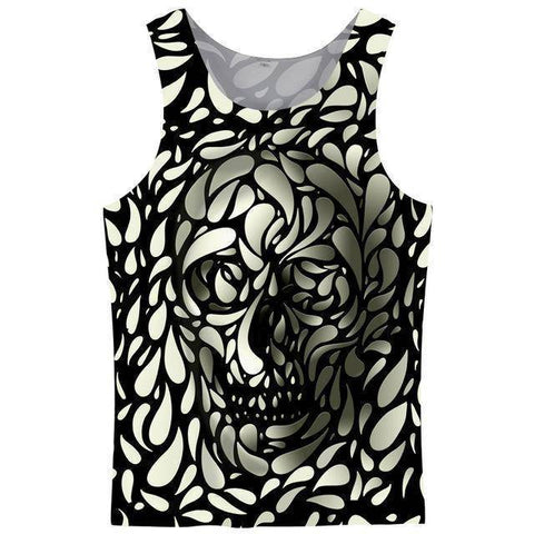 Image of FLORAL SKULL TANK
