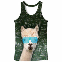 Load image into Gallery viewer, FUNNY MATH LLAMA TANK