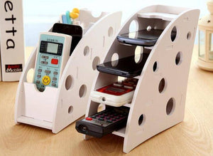 Wooden Stand for Storing Control Panels and Mobile Phones