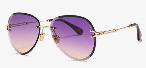 Image of New Rimless Sunglasses Drops Style  uv400