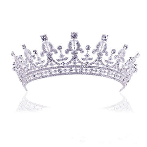New Fashion Baroque Style Luxury Crystal AB Bridal Crown