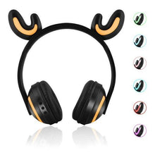Load image into Gallery viewer, Bluetooth Stereo Cat Ear Headphones  with Mic Flashing Glowing  7 Colors LED light