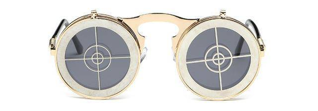 Round Punk Sunglasses