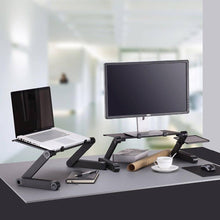 Load image into Gallery viewer, Adjustable Aluminum Laptop Desk  With Mouse Pad