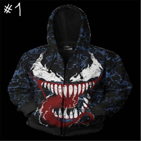 Super Hero Movies  3D Prints Zip Up Hoodies