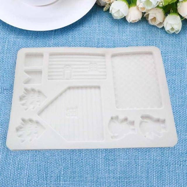 Silicone  House . Baking Tools Chocolate Candy Cookies Decor Cake Mold. Christmas House
